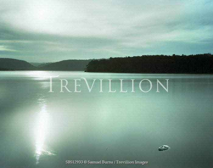Samuel Burns LAKE WITH MOONLIGHT Lakes/Rivers