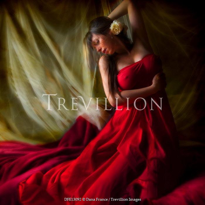 Dana France WOMAN IN RED DRESS Women