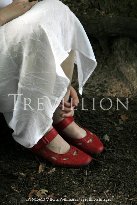 Ilona Wellmann WOMAN SITTING DOWN IN FOREST Women