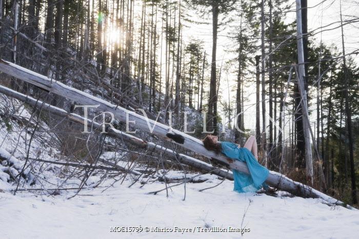 Marico Fayre WOMAN LYING ON FALLEN TREE Women