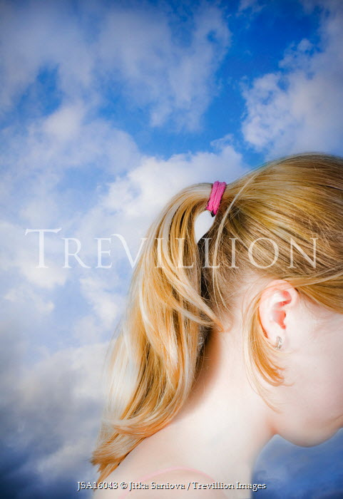 Jitka Saniova YOUNG GIRL CLOUD SKY Children