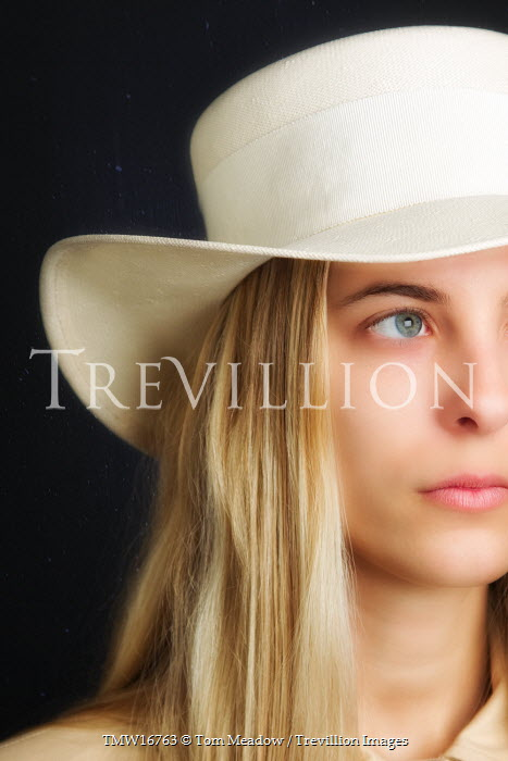 Tom Meadow Blonde Woman in White Hat Women