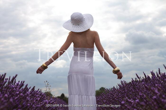 Sarah Louise Johnson WOMAN IN WHITE STANDING Women