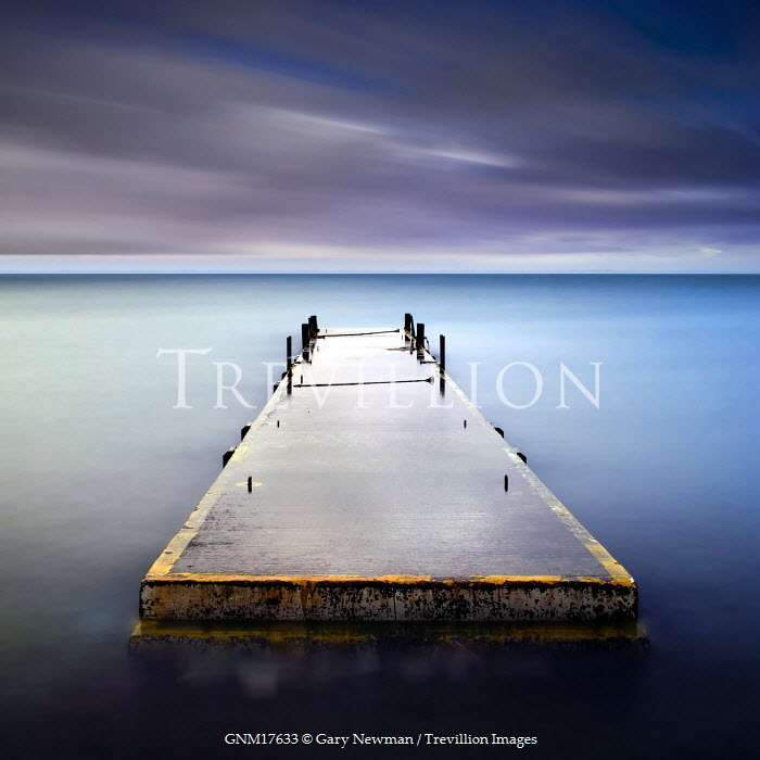Gary Newman JETTY IN SEA Seascapes/Beaches