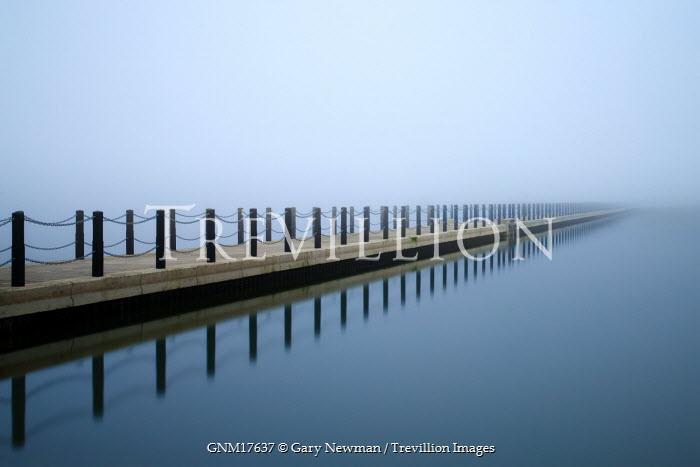 Gary Newman WOODEN BRIDGE ACROSS WATER Bridges