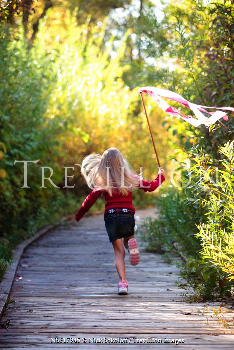 Nick Sokoloff young girl running in park Children