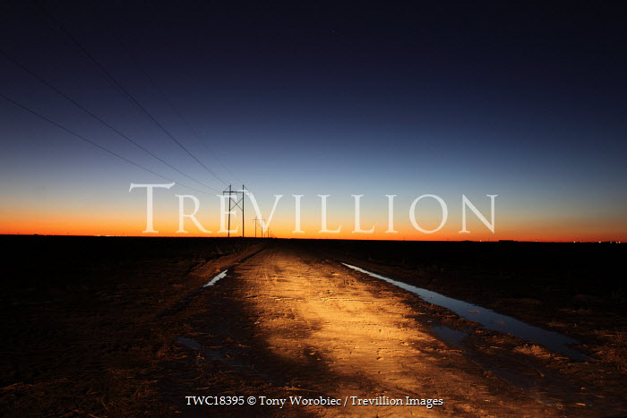 Tony Worobiec TRACK AT SUNSET Paths/Tracks