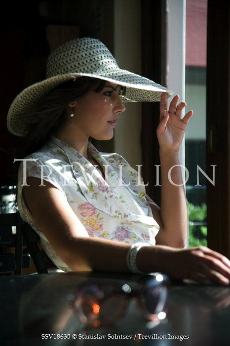 Stanislav Solntsev WOMAN WEARING SUN HAT SITTING DOWN Women