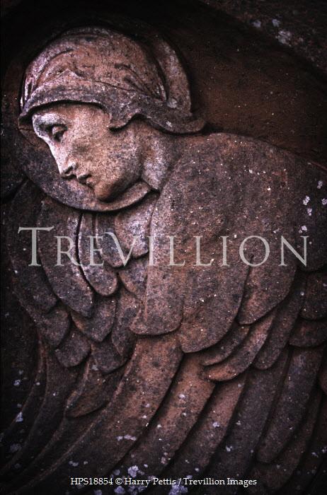 Harry Pettis RELIGIOUS STONE CARVING ANGEL Statuary/Gravestones