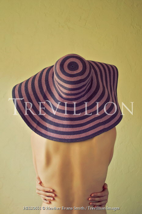 Heather Evans Smith 1970'S WOMAN WITH STRIPY HAT Women