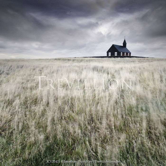 Jonathan Chritchley SMALL CHURCH IN GRASSY LANDSCAPE Religious Buildings