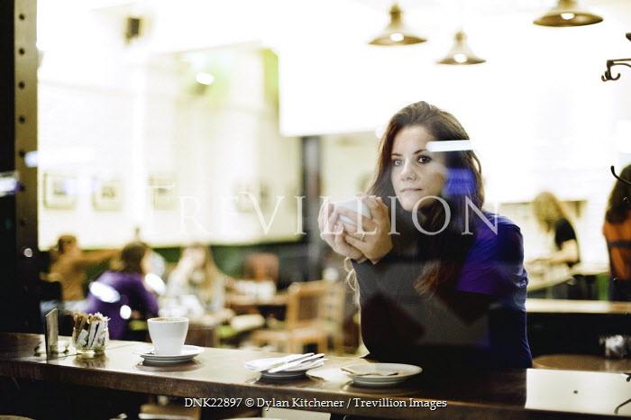 Dylan Kitchener WOMAN SAT IN CAFE Women
