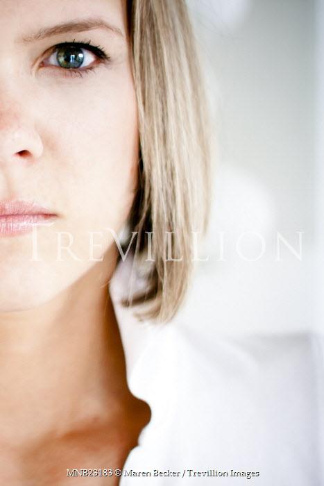 Maren Becker HALF OF WOMAN'S FACE Women