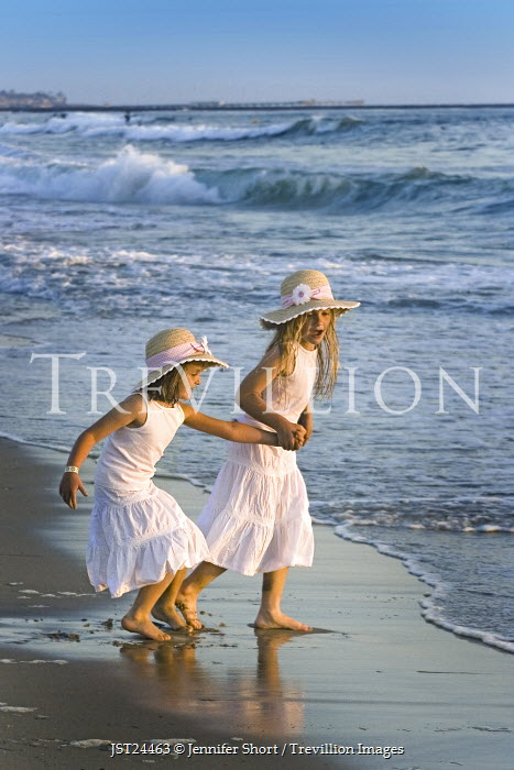 Jennifer Short BLONDE GIRLS PLAYING IN SEA Children