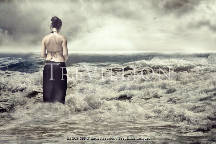 Laura Franco WOMAN STANDING IN SEA IN SKIRT Women