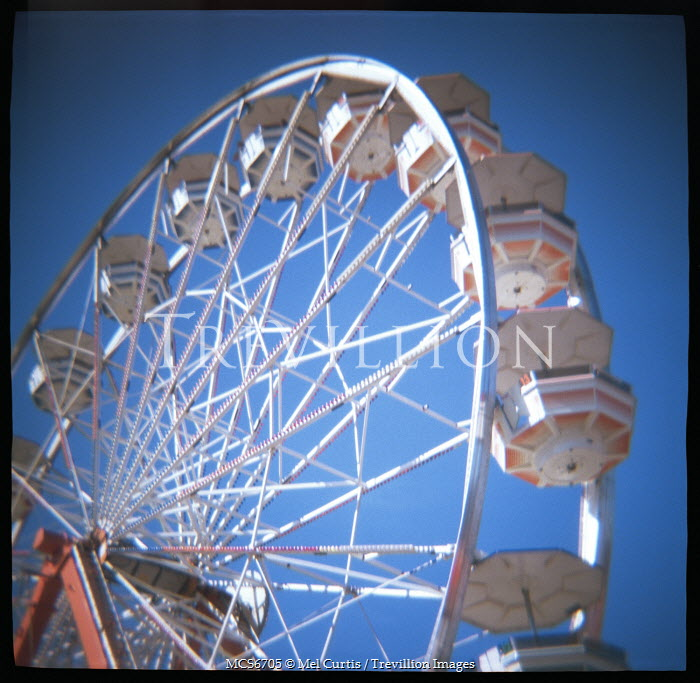 Mel Curtis FERRIS WHEEL AGAINT BLUE SKY Miscellaneous Objects