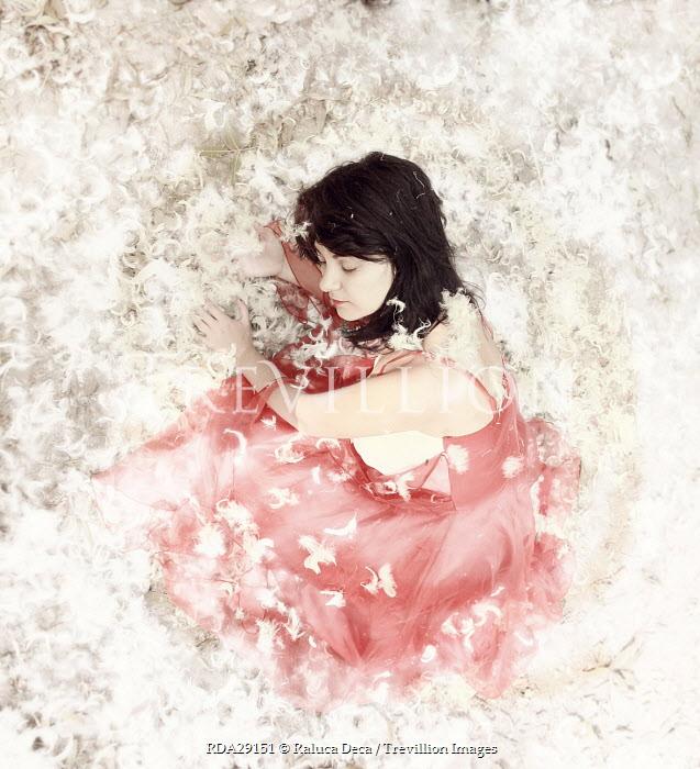 Raluca Deca WOMAN IN PINK IN FEATHERS Women