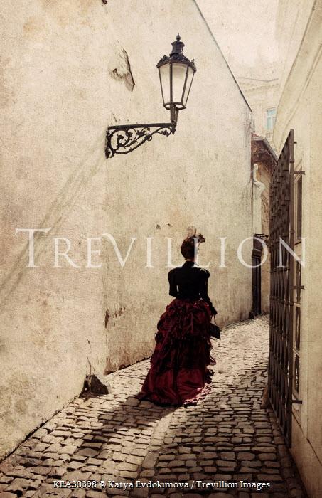Katya Evdokimova HISTORICAL WOMAN WALKING IN ALLEY Women
