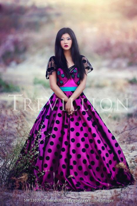 Sarah Ann Wright ASIAN WOMAN IN SPOTTY DRESS Women