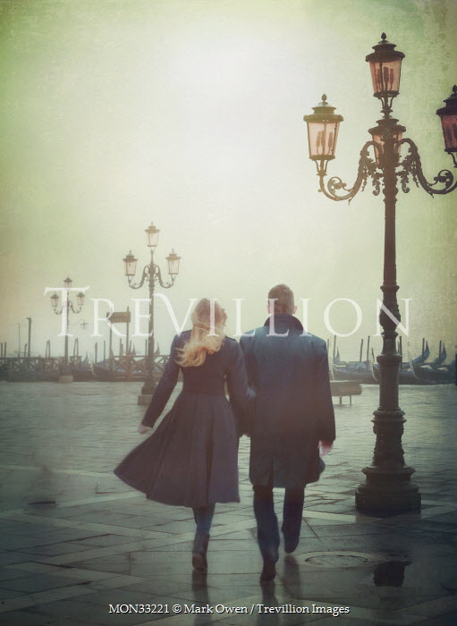 Mark Owen COUPLE WALKING IN WINTRY VENICE Couples