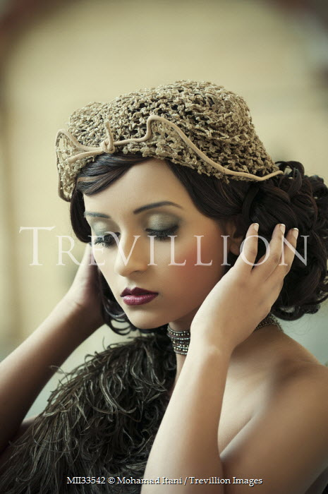 Mohamad Itani SERIOUS GLAMOROUS GIRL WITH LACE HAT Women
