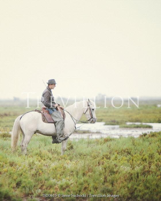Irene Suchocki FISHERMAN ON HORSE IN FRANCE Men