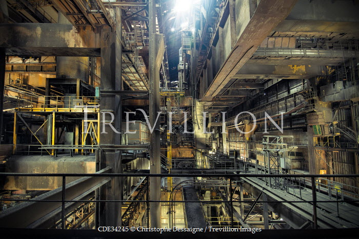 Christophe Dessaigne INTERIOR OF HUGE INDUSTRIAL FACTORY Interiors/Rooms