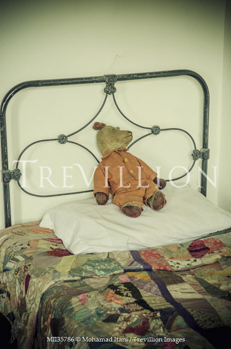 Mohamad Itani ANTIQUE TEDDY ON IRON BED Interiors/Rooms