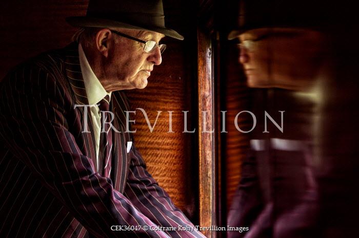 Coltrane Koh ELDERLY MAN LOOKING OUT WINDOW Men