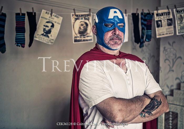 Coltrane Koh MAN DRESSED AS SUPERHERO Men