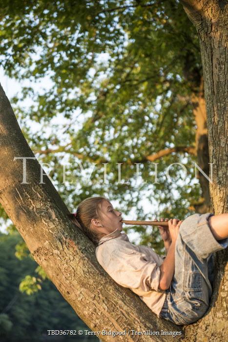 Terry Bidgood GIRL IN TREE WITH WHISTLE Women