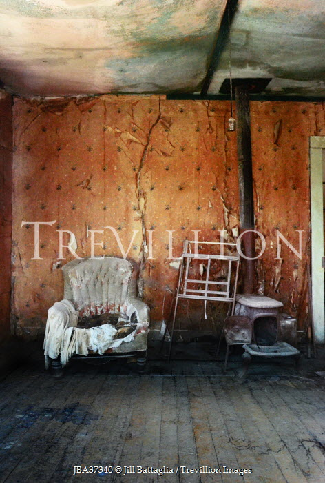Jill Battaglia INTERIOR OF ABANDONED DERELICT HOUSE Interiors/Rooms