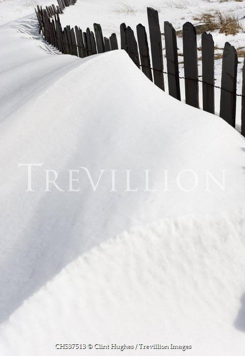Clint Hughes SNOW DRIFT BY FENCE Snow/ Ice