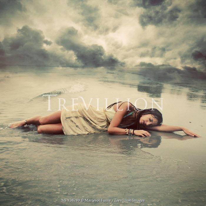 Mariesol Fumy DROWNED WOMAN LYING ON BEACH Women