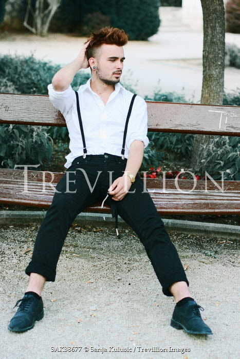 Sanja Kulusic MAN SITTING ON BENCH Men