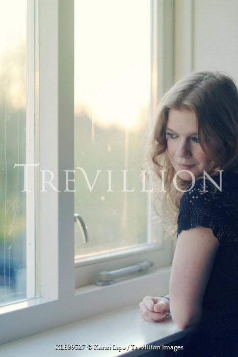 Karin Lips GIRL LOOKING OUT OF WINDOW Women