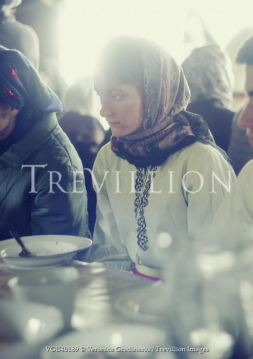 Veronica Gradinariu WOMAN AT DINING TABLE Women