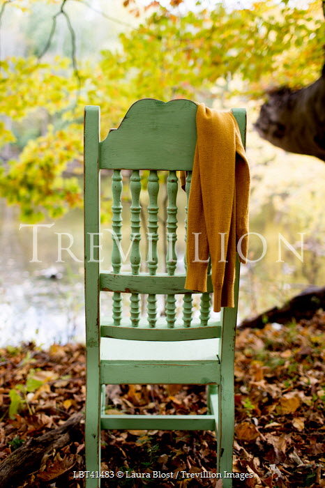 Laura Blost CHAIR BY WATER WITH SCARF Miscellaneous Water