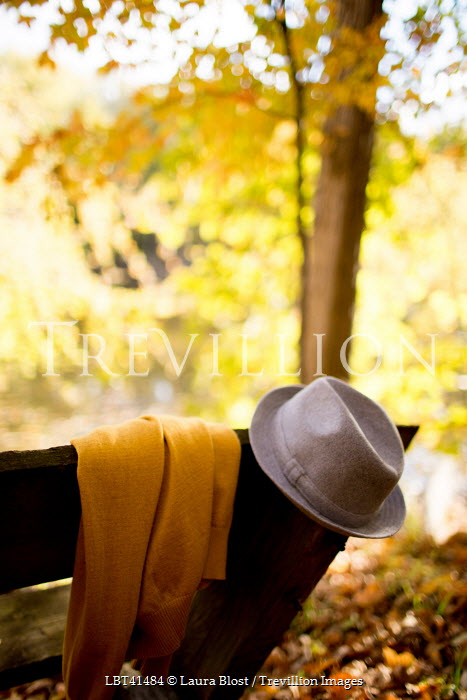 Laura Blost HAT AND JUMPER ON BENCH Miscellaneous Objects