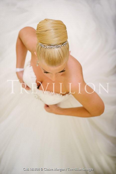 Claire Morgan BLONDE WOMAN WEARING WEDDING DRESS Women