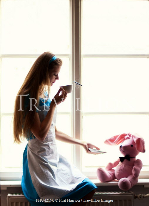 Pini Hamou GIRL DRINKING WITH TOY BY WINDOW Women