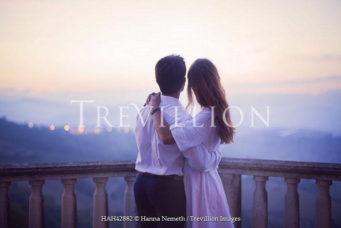 Hanna Nemeth COUPLE ON BALCONY AT SUNSET Couples