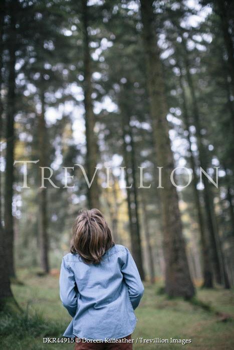 Doreen Kilfeather GIRL STANDING IN FOREST Women