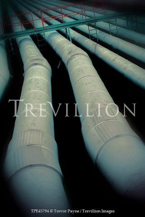 Trevor Payne INDUSTRIAL PIPES WITH METAL BRIDGE Building Detail
