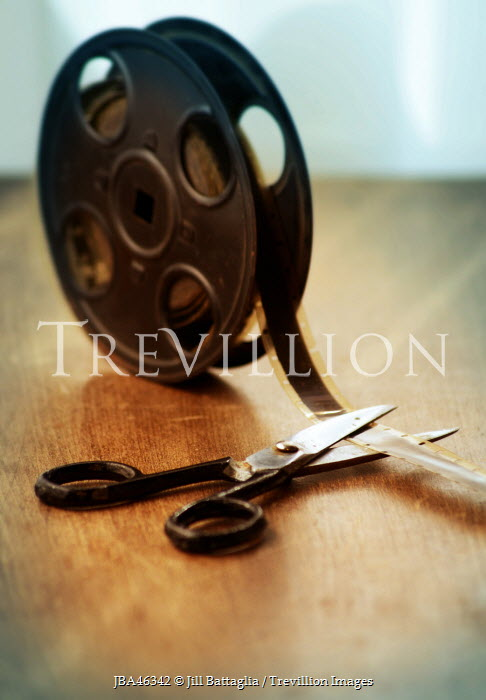 Jill Battaglia VINTAGE FILM REEL AND SCISSORS Miscellaneous Objects
