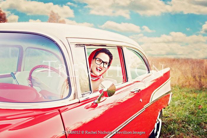 Rachel Nichole WOMAN IN VINTAGE AMERICAN CAR Women