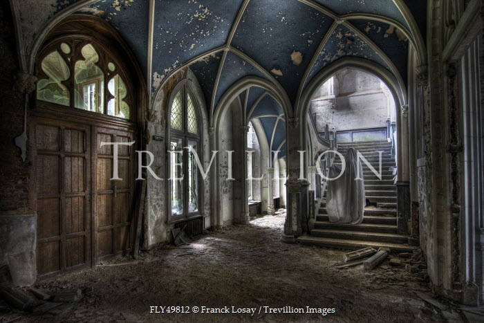 Franck Losay GHOST ON STAIRS IN DERELICT HOUSE Miscellaneous Buildings