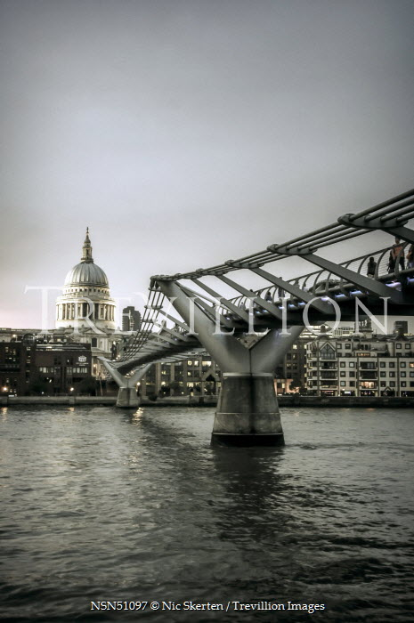 Nic Skerten MILLENNIUM BRIDGE AND ST PAUL'S CATHEDRAL, LONDON Bridges