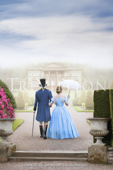 Lee Avison HISTORICAL COUPLE ON COUNTRY ESTATE Couples