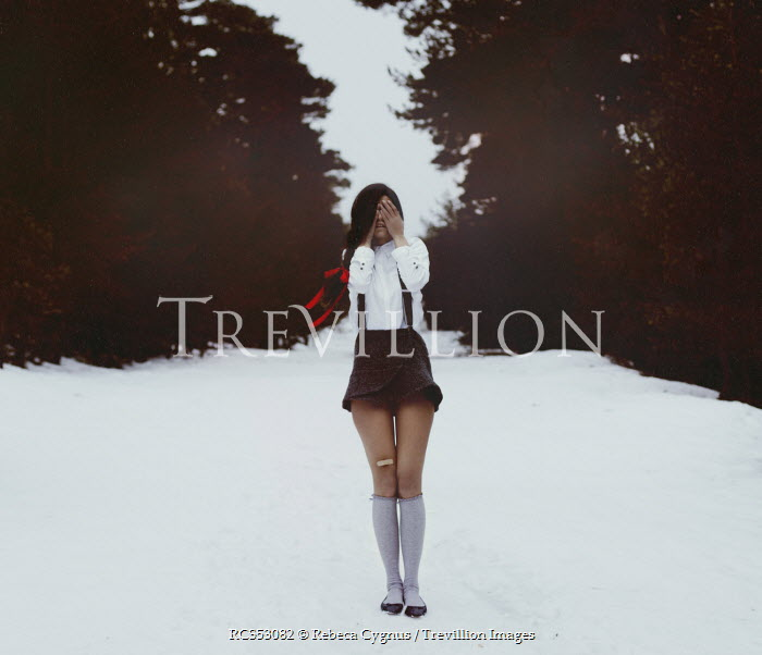 Rebeca Cygnus WOMAN STANDING IN SNOW Women